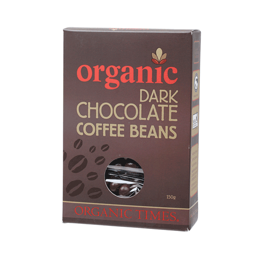 ORGANIC TIMES - Dark Chocolate Coffee Beans (150g) - My ...